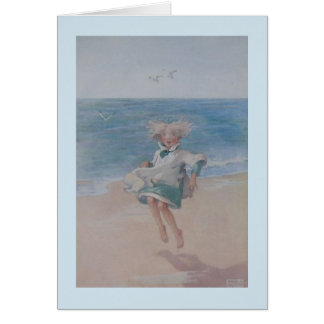 Little Girl at the Beach, Card