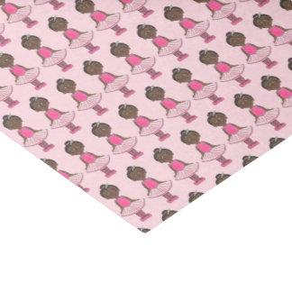 Little Girl Ballet Dancer Pink Tutu Ballerina Rose Tissue Paper
