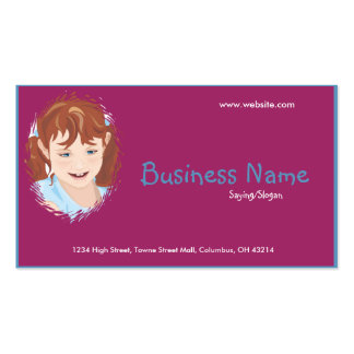 Little Girl Business Card