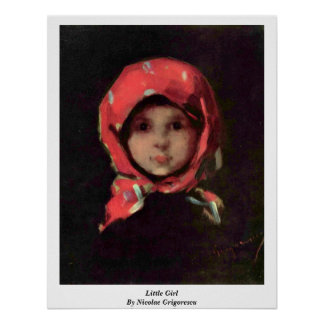 Little Girl By Nicolae Grigorescu Poster