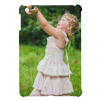 Little Girl Catching a Butterly iPad Mini Covers