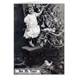 Little Girl Christmas Tree 1910 Vintage Card