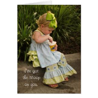 Little Girl Eating Icecream Card