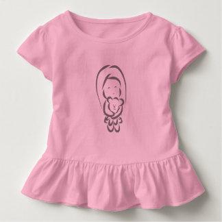 Little Girl holding a bear Toddler T-Shirt