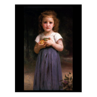 Little Girl Holding Apples in Her Hands Postcard