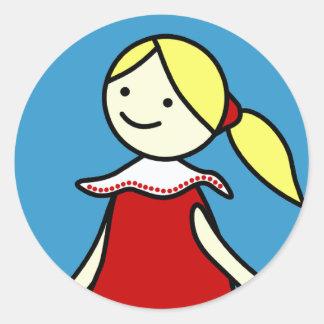 Little Girl in Red Sticker