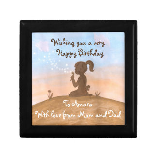 Little girl in Sunset gift box