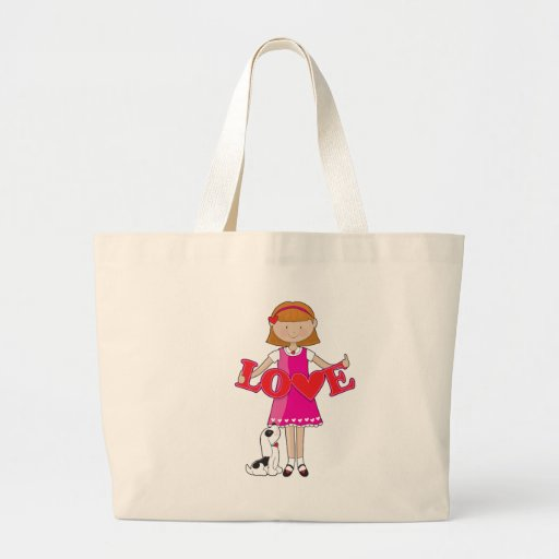 Little Girl Love Tote Bags