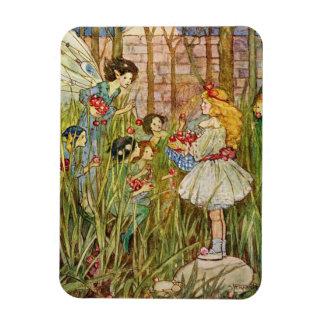 Little Girl Meets Fairies, Magnet