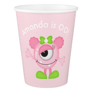 Little Girl Monster themed Party personalized Paper Cup