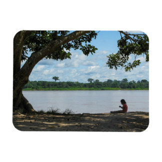 Little Girl on Amazon River in Peru Magnet