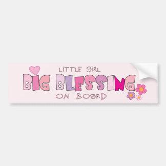 Little Girl ... on board Christian bumper sticker
