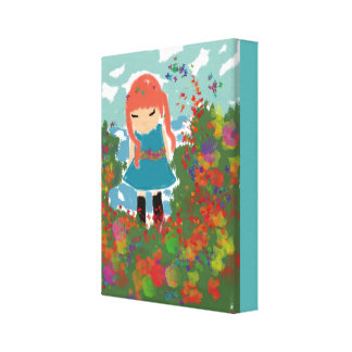 little girl Painting Canvas Prints
