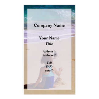 Little Girl Playing in Sand Business Card