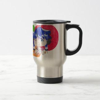little girl snacking travel mug