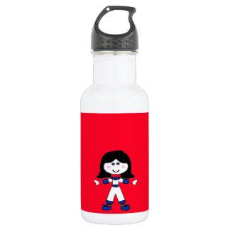Little Girl Stick Family 532 Ml Water Bottle