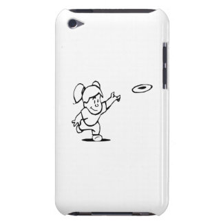 Little Girl Throwing Disc iPod Touch Cover