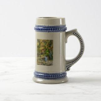 Little Girl Walking in Autumn Woods Coffee Mugs