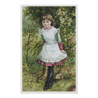 Little Girl Walking in The Woods Poster