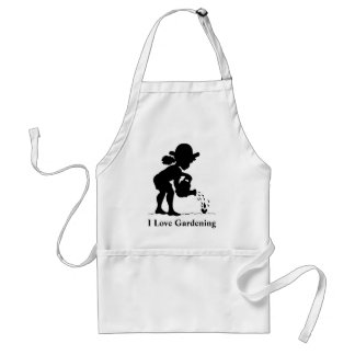 Little girl watering seedling - I Love Gardening Standard Apron