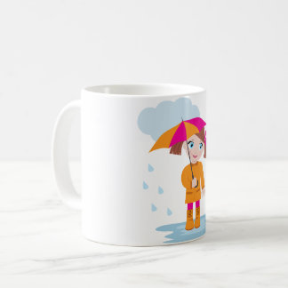 Little Girl With An Umbrella Mug
