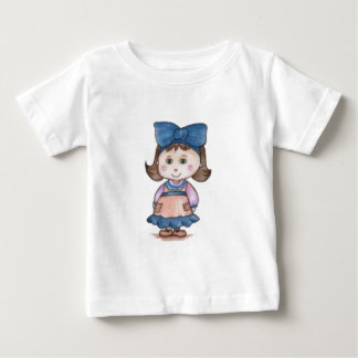 Little Girl with Blue Lace Kid Tshirt
