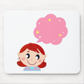 Little Girl with Bubble tshirt Mouse Pad