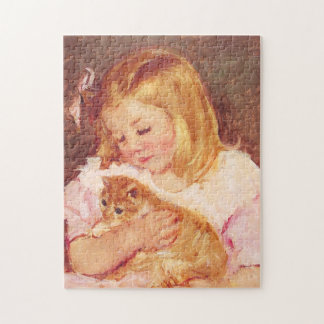 Little Girl with Cat Puzzle