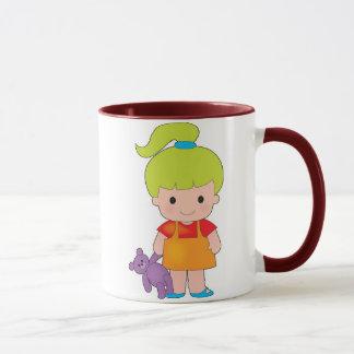 Little Girl with Teddy Bear Mug