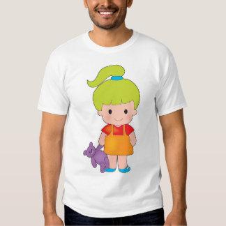 Little Girl with Teddy Bear Shirts
