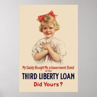 Little Girl WW1 Bond Poster