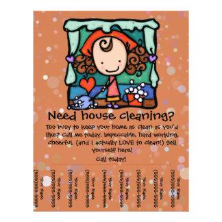 Little Girlie promotes her housecleaning business Custom Flyer