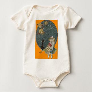 Little Girls Black Cat Jack O Lantern Night Baby Bodysuit