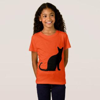 Little Girl's Cat / Halloween T-Shirt