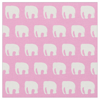 Little Girl's Fabric, Pink Elephant, Kid's Fabric