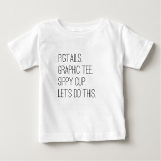 Little Girls Let's Do This Fashion Graphic Tee