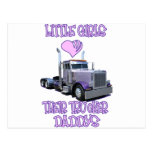 Little Girls Love Their Trucker Daddy Post Card