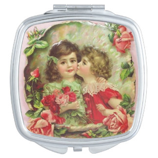 Little Girls Surrounded by Roses, Vanity Mirrors