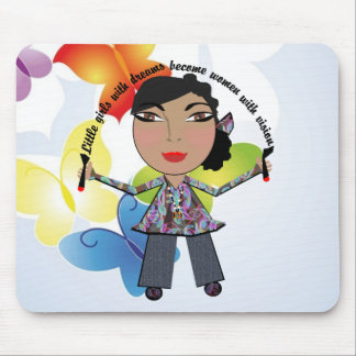 Little Girls With Dreams Become Women With Vision Mouse Pad