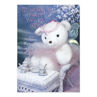 "Little Gir's Birthday Invitations 5"" X 7"" Invitation Card"