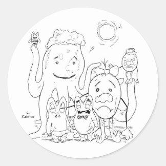 Little Gladys Goomergutts Round Sticker