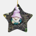 Little Gnome Ceramic Star Decoration