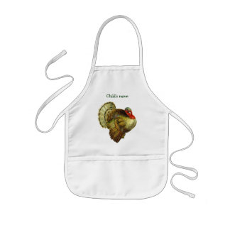 Little Gobbler Vintage Thanksgiving Turkey Apron