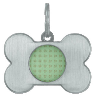 Little Gold Flowers on Mint Pet ID Tag