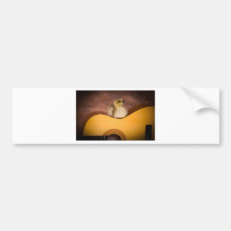 little goose one has guitar car bumper sticker