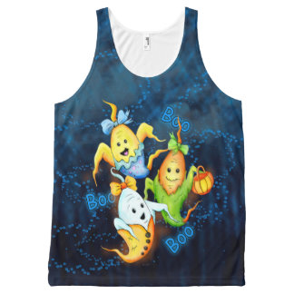 LITTLE GOSTS ALIENS AllOver Printed Unisex Tank All-Over Print Tank Top