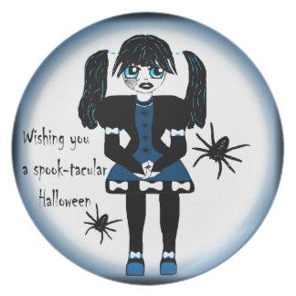 Little Goth Girl Spooktacular Plate