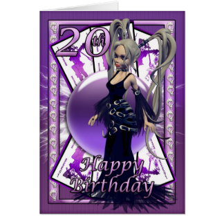 Little Gothic 20 year old Birthday, Happy 20th Greeting Card