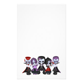 Little Gothic Gang Personalised Stationery