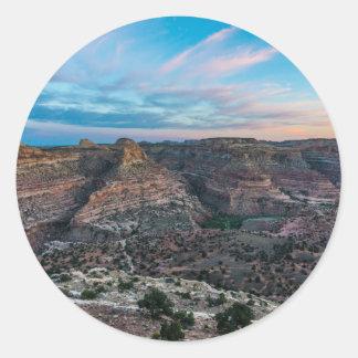Little Grand Canyon Sunset - Wedge Overlook - Utah Round Sticker